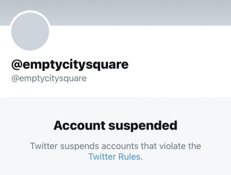 MY THREE NEW TWITTER ACCOUNTS HAVE BEEN SUSPENDED